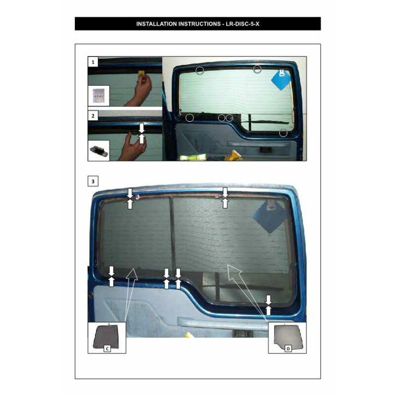 sonnenschutz land rover discovery 1 5 t rer bj 89 99 6 teilig 109 90. Black Bedroom Furniture Sets. Home Design Ideas