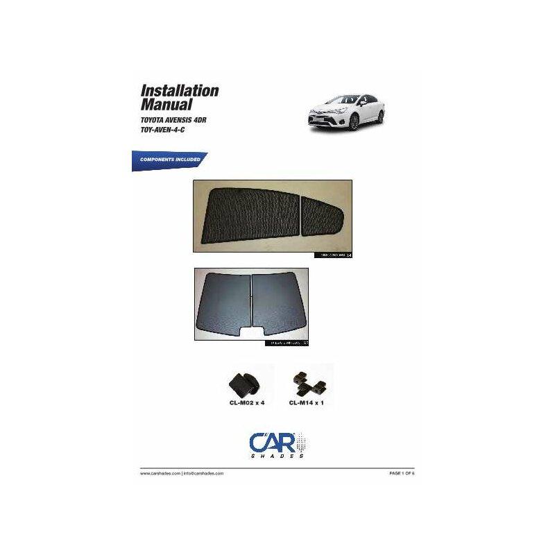 sonnenschutz toyota avensis 4 t rer bj ab 2009 6 teilig. Black Bedroom Furniture Sets. Home Design Ideas