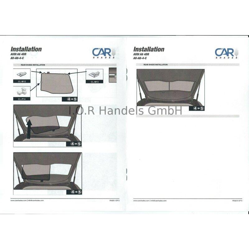 sonnenschutz audi a6 limousine c7 4 t rer ab 2011 6. Black Bedroom Furniture Sets. Home Design Ideas