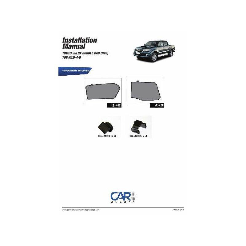 sonnenschutz toyota hilux double cab n70 4 t rer bj 05. Black Bedroom Furniture Sets. Home Design Ideas