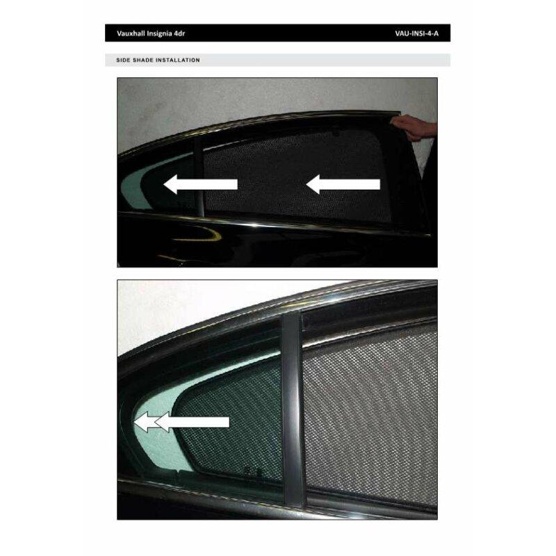 sonnenschutz opel insignia 4 t rer bj ab 2009 4 teilig. Black Bedroom Furniture Sets. Home Design Ideas