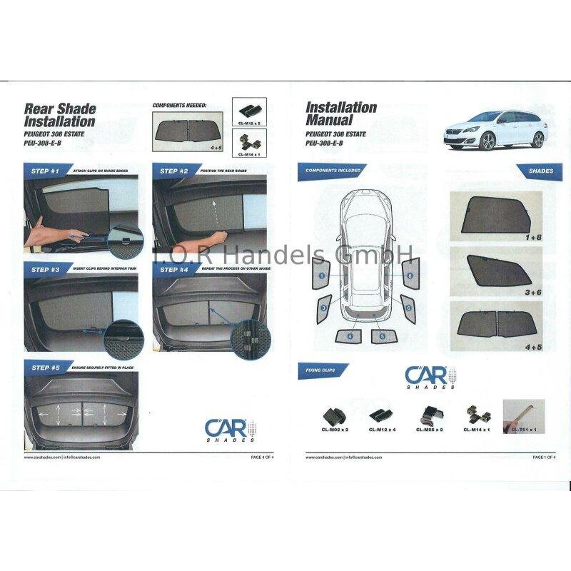 Ab 2013 Blenden hinten Sonnenschutz Opel Adam 3-Türer BJ Heckscheibe