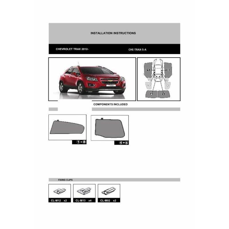 sonnenschutz chevrolet trax 4 t rer ab bj 2012 4 teilig. Black Bedroom Furniture Sets. Home Design Ideas