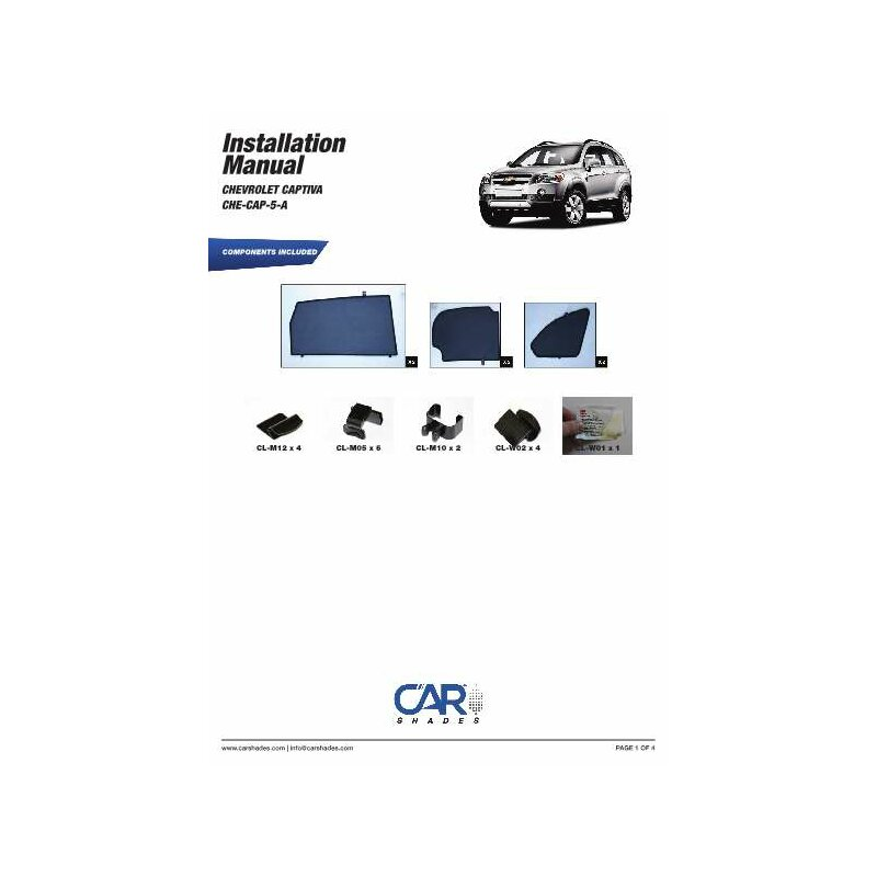sonnenschutz chevrolet captiva 5 t rer bj 2006 2011 6. Black Bedroom Furniture Sets. Home Design Ideas