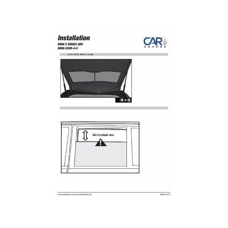 sonnenschutz bmw 5er limousine f10 4 t rer ab 2010 4 teilig 99 90. Black Bedroom Furniture Sets. Home Design Ideas