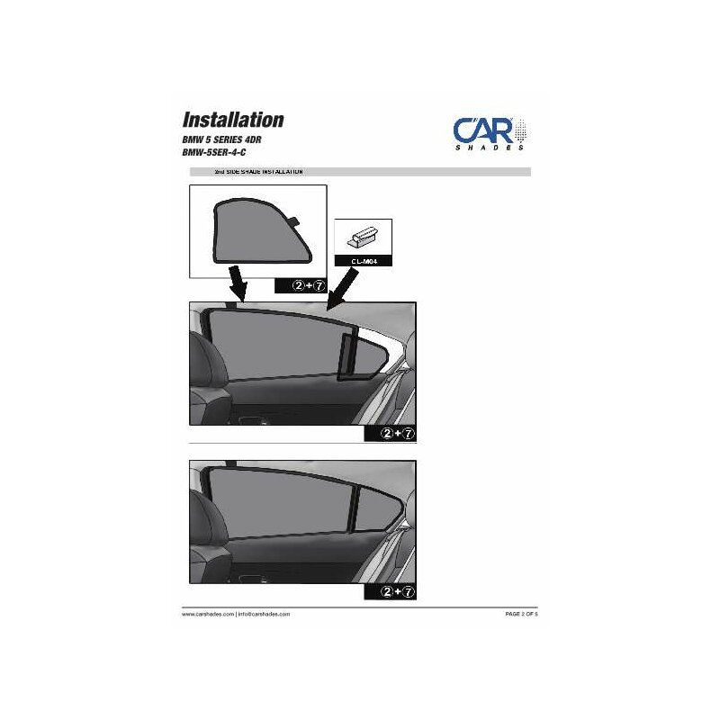 sonnenschutz bmw 5er limousine f10 4 t rer ab 2010 4. Black Bedroom Furniture Sets. Home Design Ideas